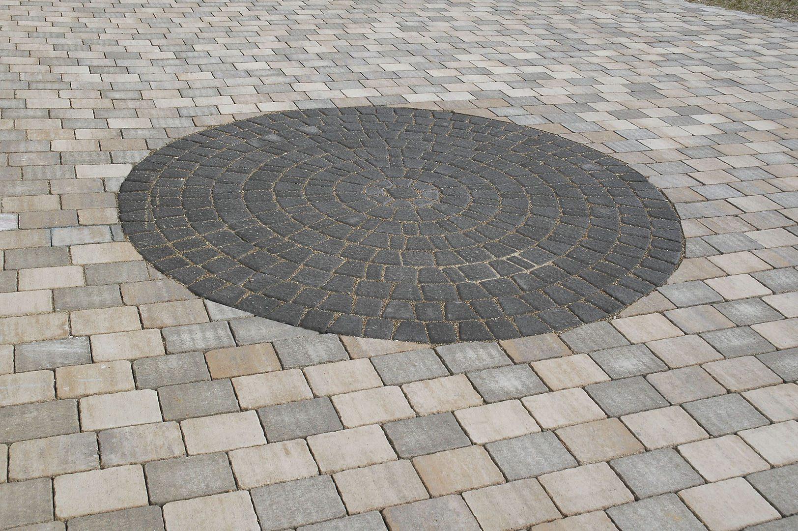 kreis pflastern mit rechtecksteinen > naturstein kreise pflastern